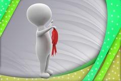 3d man ribbon award illustration Royalty Free Stock Image