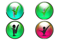 3d Man right concept icon Royalty Free Stock Photos