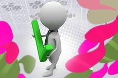 3d man right  illustration Stock Photography
