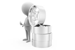3d man rim concept Royalty Free Stock Images