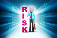 3d man with risk Royalty Free Stock Image