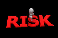 3d man risk concept Stock Image