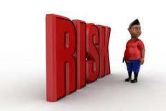 3d man risk Stock Image