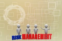 3d man with risk management illustration Stock Photos