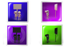 3d Man road sign board concept icon Stock Image