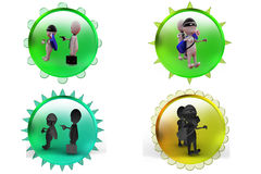 3d man robbing robber icon Royalty Free Stock Image