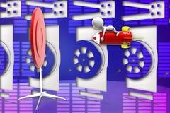 3D man robot target illustration Royalty Free Stock Image