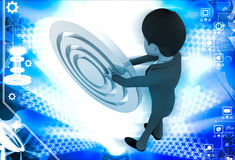 3d man rolling abstract target board illustration Stock Photo