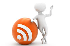 3d man rss feed concept Royalty Free Stock Images