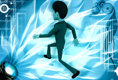 3d man run in hurry illustration Royalty Free Stock Photos