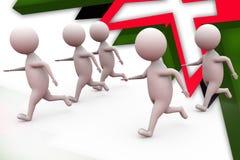 3d man run illustration Stock Images