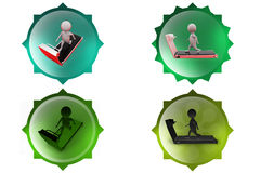 3d man running exercise icon Royalty Free Stock Photos