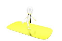 3d man running on gold concept Stock Photos