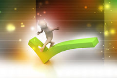 3d man running the right sign Royalty Free Stock Images