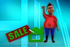 3d man sale illustration Stock Image