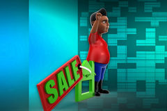 3d man sale illustration Royalty Free Stock Photography