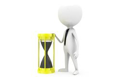 3d man sand clock concept Royalty Free Stock Photography