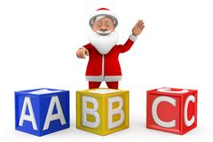3d man santa abc concept Royalty Free Stock Images
