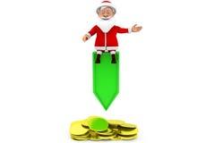 3d man santa coins concept Royalty Free Stock Image