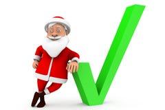 3d man santa correct concept Royalty Free Stock Image