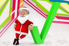 3d man santa correct  illustration Stock Photo