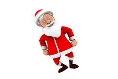 3d man santa dance concept Stock Images