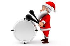 3d man santa drum concept Stock Images