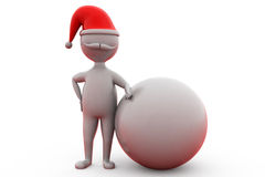 3d man santa with earth concept Stock Photography