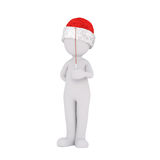 3d man in a Santa hat playing a violin Royalty Free Stock Photography