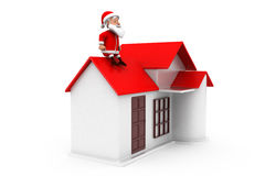 3d man santa home concept Royalty Free Stock Photos