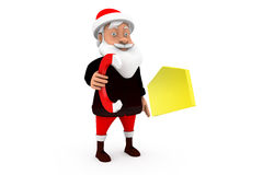 3d man santa magnet mail concept Royalty Free Stock Photography