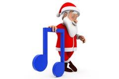 3d man santa music icon concept Stock Images