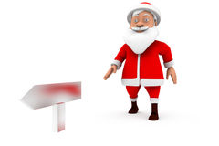 3d man santa sign board concept Royalty Free Stock Photography