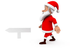 3d man santa sign board concept Stock Image