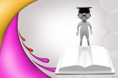3d man scholar illustration Stock Images