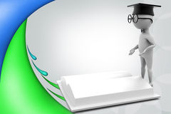 3d man scholar illustration Royalty Free Stock Images