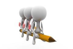 3d man school concept Royalty Free Stock Image