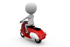 3d man scooter concept Royalty Free Stock Photo
