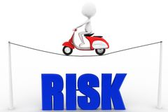 3d Man scooter risk concept Royalty Free Stock Photo