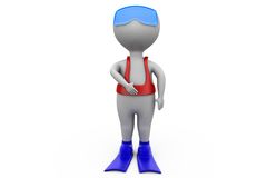 3d man scuba concept Royalty Free Stock Photography