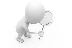 3d man search concept Royalty Free Stock Photos