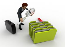 3d man search file from many files concept Stock Photography