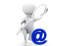 3d man search mail concept Royalty Free Stock Photo