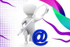 3d man search mail  illustration Stock Photos