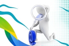 3d man search mail  illustration Royalty Free Stock Image