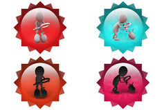 3d man search money bag icon Stock Photography
