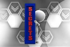 3d man secret illustration Royalty Free Stock Photography