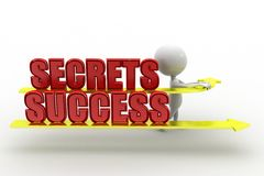 3d Man Secrets Success Stock Images