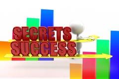 3d Man Secrets Success Illustration Royalty Free Stock Photos