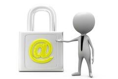 3d  man secure mail concept Stock Photo